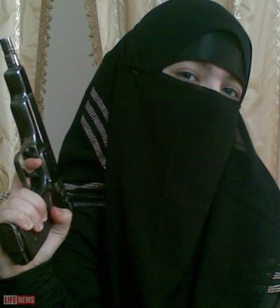 Fig. 6: Chechen 'Black Widows' also known as Shahidka in Russia, which means a female martyr.
